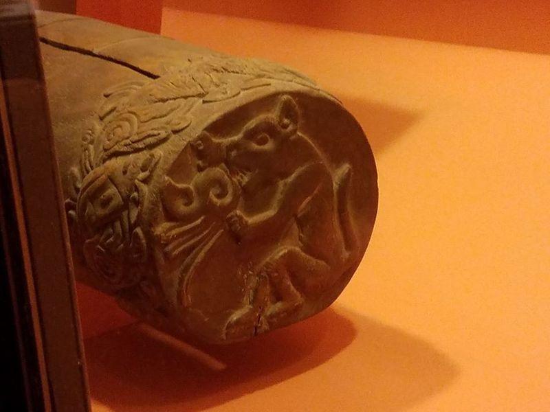 Jaguar Eagle Teponaztli drum